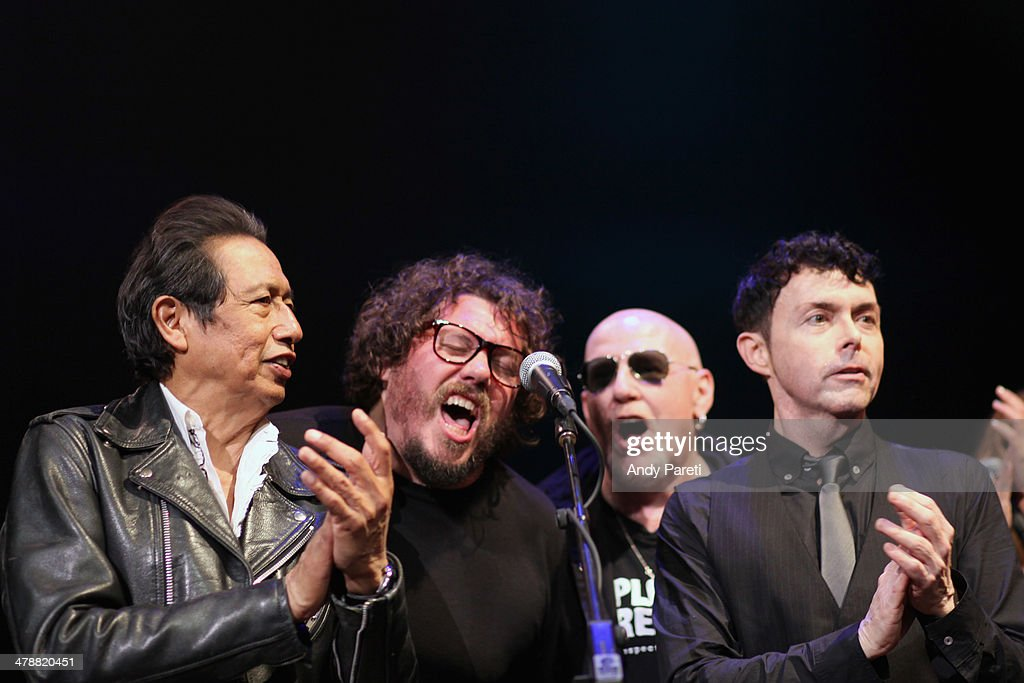 Alejandro Escovedo, Bobby Bare Jr., Cheetah Chrome and Richard Barone perform onstage at the Lou Reed Tribute during the 2014 SXSW Music, Film + Interactive Festival at Paramount Theatre on March 14, 2014 in Austin, Texas.