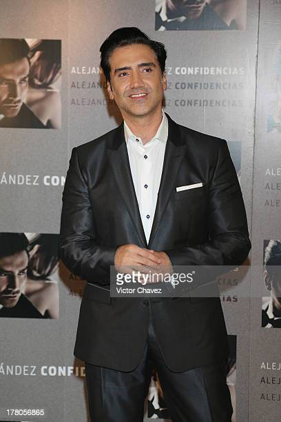 Alejandro Fernandez attends a photocall and press conference to promote his new album 'Confidencias' at Museo Jose Luis Cuevas on August 26 2013 in...
