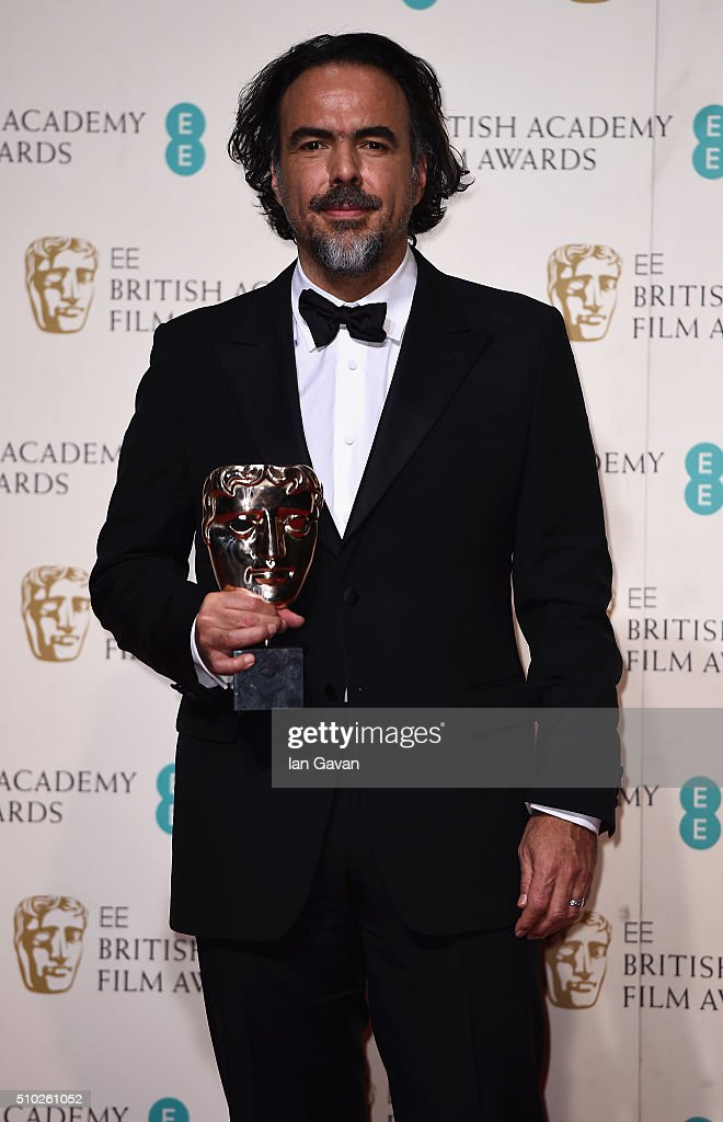 Alejandro G. Iñárritu, winner of Best Director for 'The Revenant' poses in the winners room at the EE British Academy Film Awards at the Royal Opera House on February 14, 2016 in London, England.