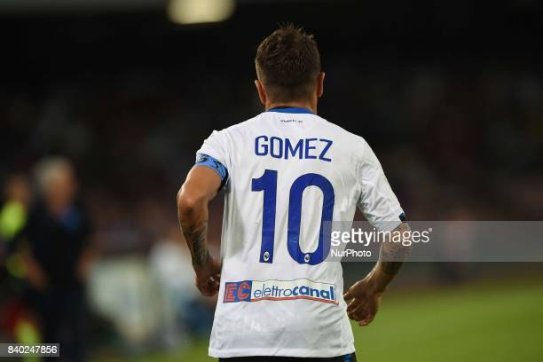 Alejandro Gomez of Atalanta BC during the Serie A TIM match between SSC Napoli and Atalanta BC at Stadio San Paolo Naples Italy on 27 August 2017