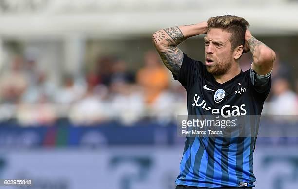 Alejandro Gomez of Atalanta BC gestures during the Serie a match between Atalanta BC and FC Torino at Stadio Atleti Azzurri d'Italia on September 11...