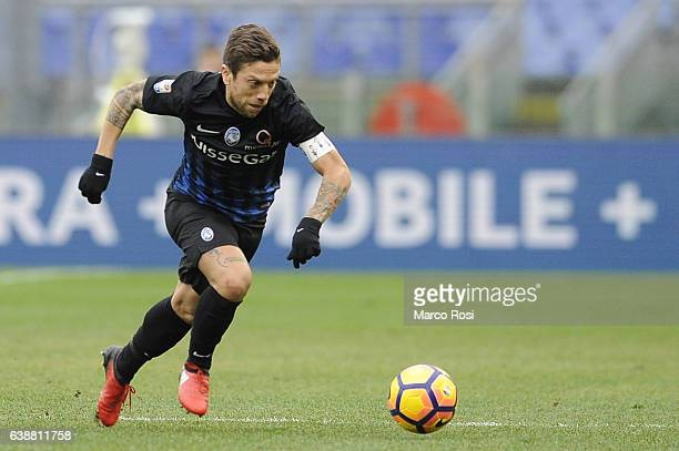 Alejandro Gomez of Atalanta BC in action during the Serie A match between SS Lazio and Atalanta BC at Stadio Olimpico on January 15 2017 in Rome Italy