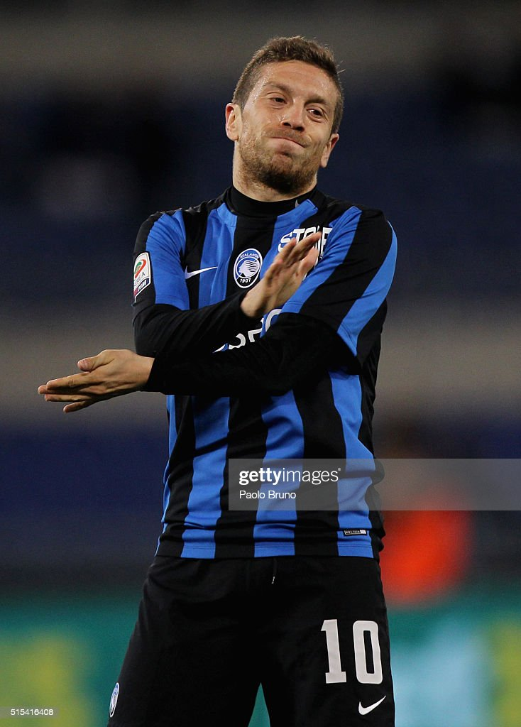 Alejandro Gomez of Atalanta BC reacts during the Serie A match between SS Lazio and Atalanta BC at Stadio Olimpico on March 13, 2016 in Rome, Italy.