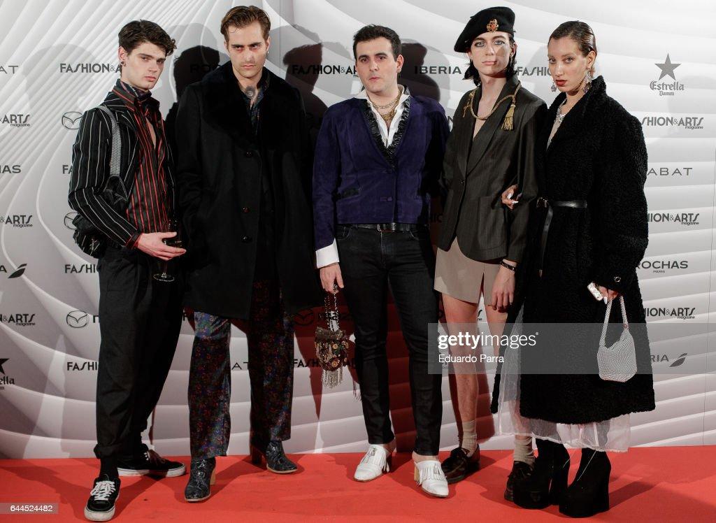 Alejandro Gomez Palomo (C) attends the 'Fashion & arts' photocall at Reina Sofia museum on February 23, 2017 in Madrid, Spain.