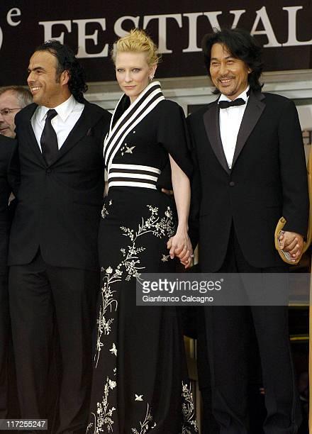 Alejandro Gonzalez Inarritu director Cate Blanchett and Koji Yakusho