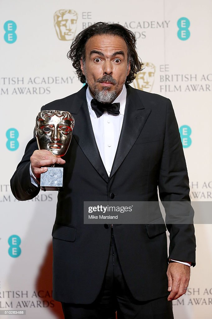 Alejandro Gonzalez Inarritu, winner of the Best Director award for 'The Revenant' poses in the winners room at the EE British Academy Film Awards at The Royal Opera House on February 14, 2016 in London, England.