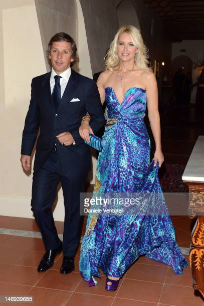 Alejandro Gravier and Valeria Mazza attend the Opening Ceremony during the 58th Taormina Film Fest on June 23 2012 in Taormina Italy