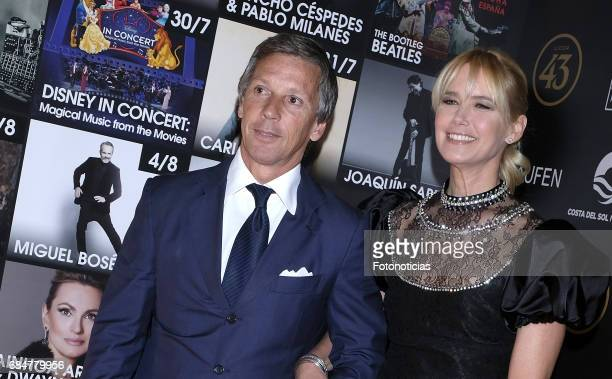 Alejandro Gravier and Valeria Mazza attend the Starlite 2017 presentation party at the Teatro Gran Maestre on May 18 2017 in Madrid Spain