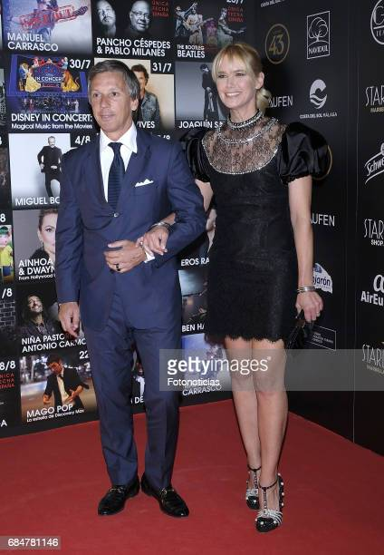 Alejandro Gravier and Valeria Mazza attends the Starlite 2017 presentation party at the Teatro Gran Maestre on May 18 2017 in Madrid Spain
