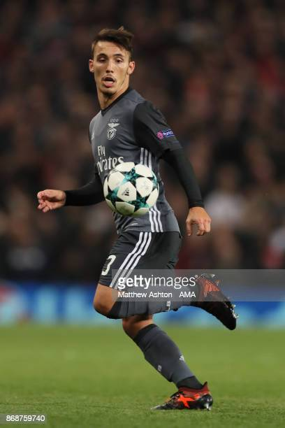 Alejandro Grimaldo of Benfica in action during the UEFA Champions League group A match between Manchester United and SL Benfica at Old Trafford on...