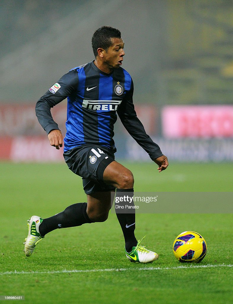 Alejandro Guarin of Internazionale FC during the Serie A match between Parma FC and FC Internazionale Milano at Stadio Ennio Tardini on November 26, 2012 in Parma, Italy.
