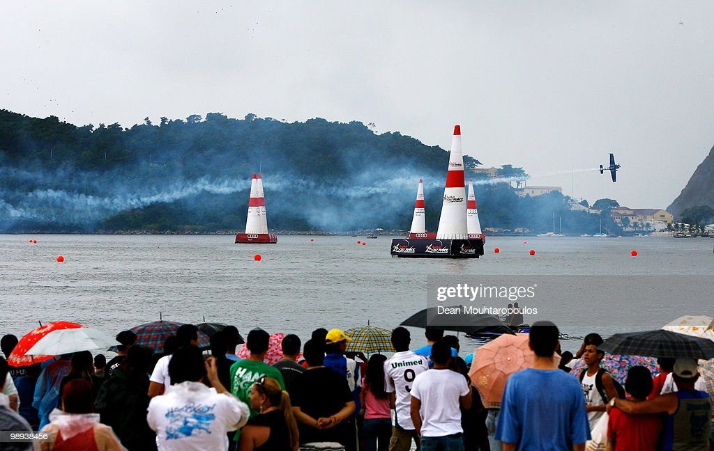 <a gi-track='captionPersonalityLinkClicked' href=/galleries/search?phrase=Alejandro+Maclean&family=editorial&specificpeople=4037375 ng-click='$event.stopPropagation()'>Alejandro Maclean</a> of Spain in action during the Red Bull Air Race Day on May 9, 2010 in Rio de Janeiro, Brazil.