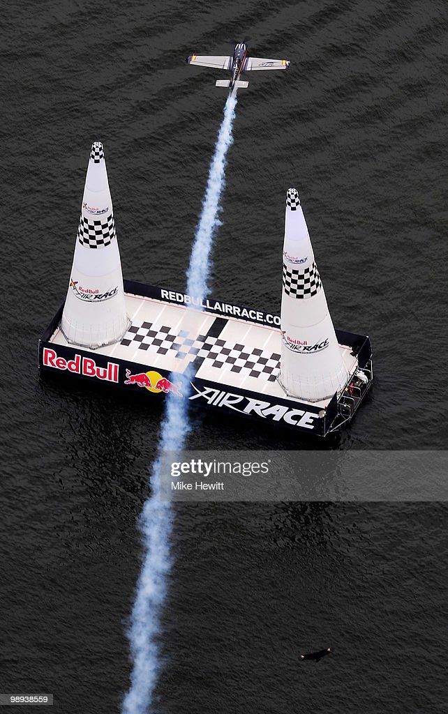 <a gi-track='captionPersonalityLinkClicked' href=/galleries/search?phrase=Alejandro+Maclean&family=editorial&specificpeople=4037375 ng-click='$event.stopPropagation()'>Alejandro Maclean</a> of Spain in action during the Red Bull Air Race Day at the Race Airport on May 9, 2010 in Rio de Janeiro, Brazil.
