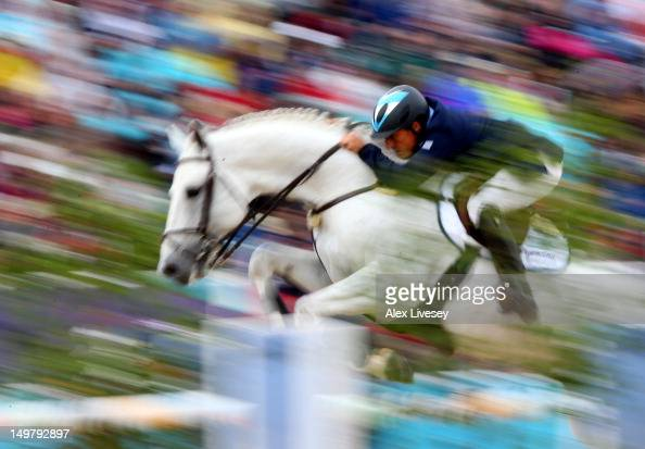 Alejandro Madorno of Argentina riding Milano de Flore competes in the 1st Qualifier of Individual Jumping on Day 8 of the London 2012 Olympic Games...