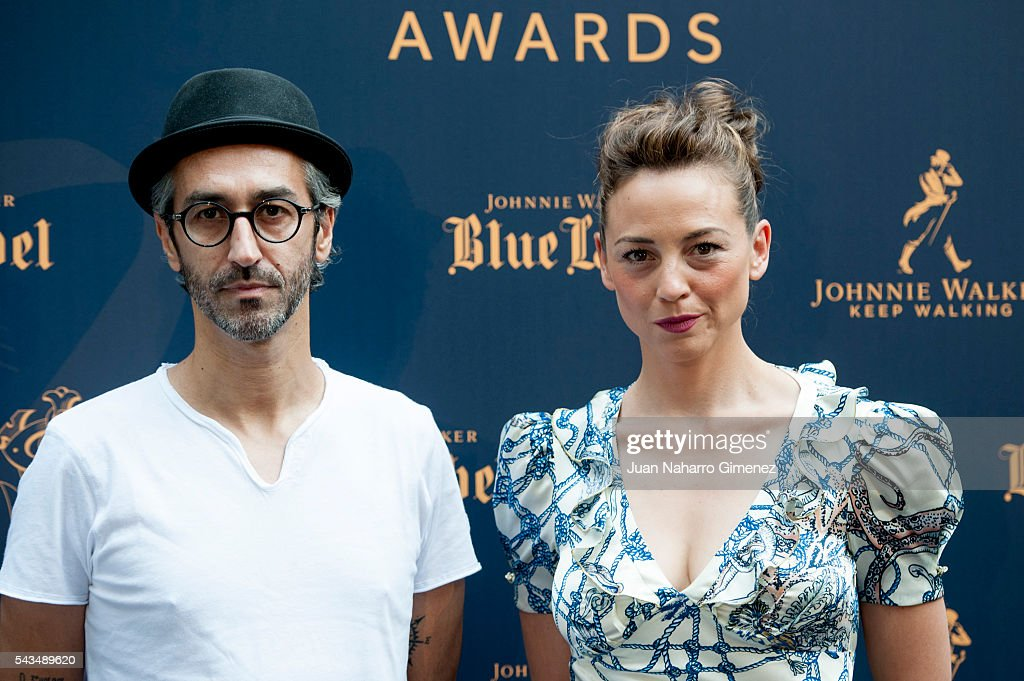 Alejandro Pelayo (L) and <a gi-track='captionPersonalityLinkClicked' href=/galleries/search?phrase=Leonor+Watling&family=editorial&specificpeople=453297 ng-click='$event.stopPropagation()'>Leonor Watling</a> attend 'Blue Label Awards' at Residence of the Ambassador of United Kingdom in Spain on June 28, 2016 in Madrid, Spain.