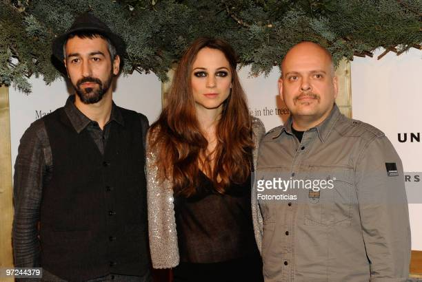 Alejandro Pelayo Leonor Watling and Oscar Ybarra of Marlango present their new album 'Life In the TreeHouse' at the Lara Theatre on March 1 2010 in...