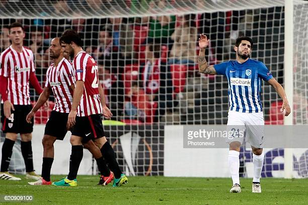 Alejandro Pozuelo midfielder of KRC Genk pictured during the UEFA Europa League group F stage match between Athletic Club de Bilbao and KRC Genk at...