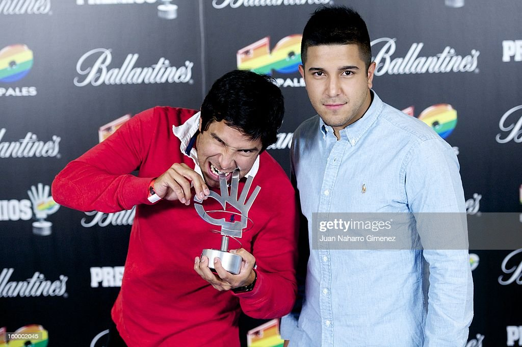 Alejandro Rengifo and Mauricio Rengifo of Cali y el Dandee pose in the press room during 40 Principales Awards 2012 at the Palacio de Deportes on January 24, 2013 in Madrid, Spain.