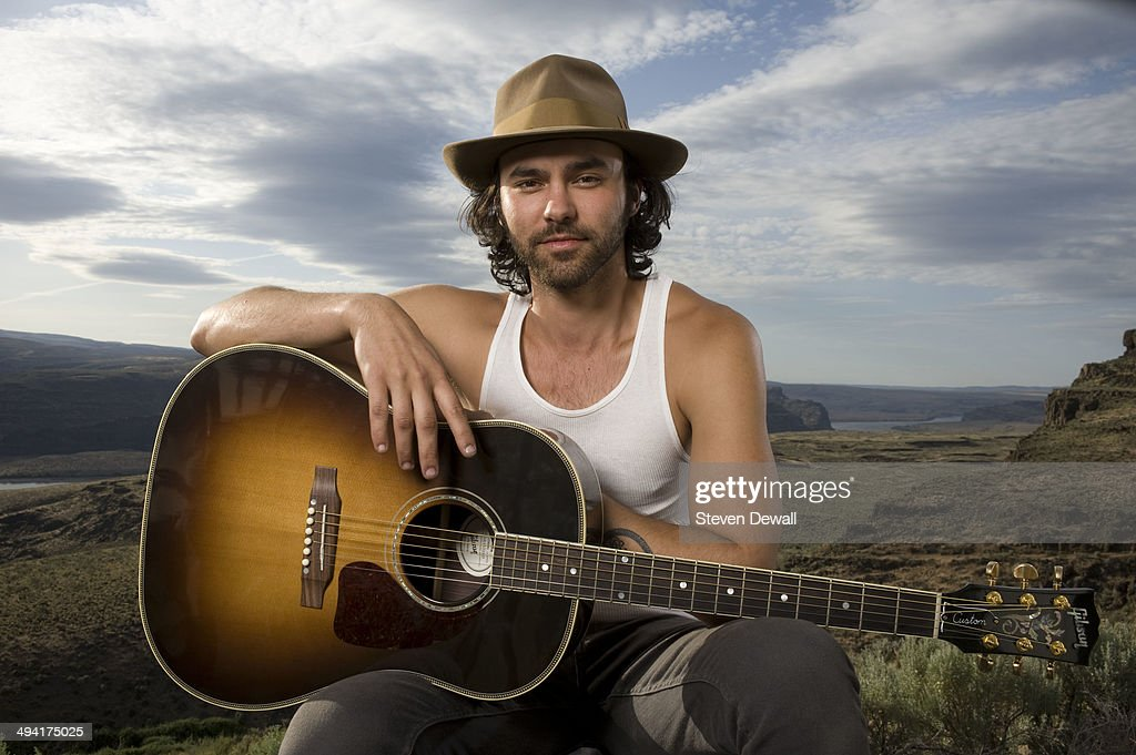 Alejandro Rose-Garcia of Shakey Graves poses for a portrait backstage on day 2 of Sasquatch! Music Festival at the Gorge Amphitheater on May 24, 2014 in George, United States.
