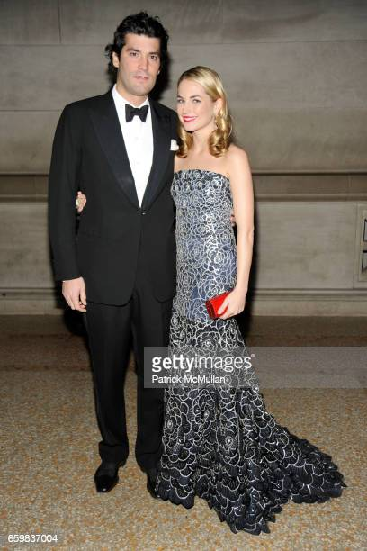 Alejandro Santo Domingo and Amanda Hearst attend Apollo Circle Benefit 2009 Sponsored by Carolina Herrera at The Metropolitan Museum of Art on...