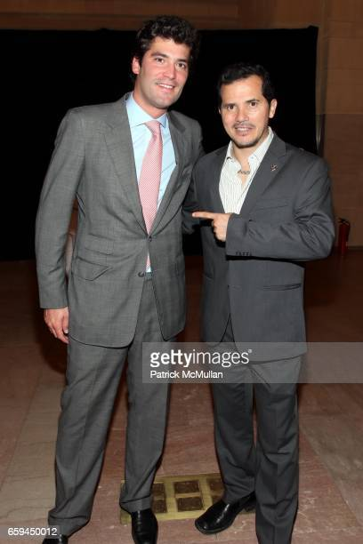 Alejandro Santo Domingo and John Leguizamo attend COLOMBIA Is PASSION Presents 'Discover Colombia Through Its Heart' at Grand Central Terminal on...