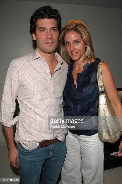 Alejandro Santo Domingo and Karen Larrain attend AMERICAN TEEN screening cocktails at SOHO HOUSE NYC on July 10 2008
