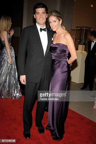 Alejandro Santo Domingo and Karen Larrain attend THE COSTUME INSTITUTE GALA 'SUPERHEROES' with honorary chair GIORGIO ARMANI at The Metropolitan...