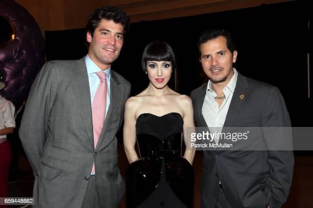 Alejandro Santo Domingo Michelle Harper and John Leguizamo attend COLOMBIA Is PASSION Presents 'Discover Colombia Through Its Heart' at Grand Central...