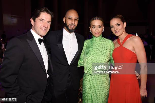 Alejandro Santo Domingo Swizz Beatz Rita Ora and Katharina Harf attend 11th Annual DKMS 'BIG LOVE' Gala on April 27 2017 in New York City