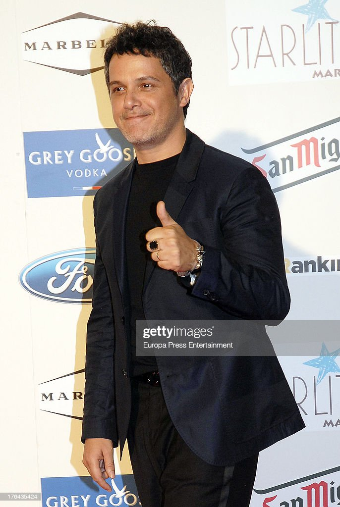 Alejandro Sanz attends the 4rd annual Starlite Charity Gala on August 10, 2013 in Marbella, Spain.