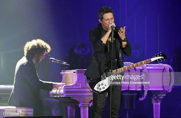 Alejandro Sanz performs during his concert on June 26 2013 in Madrid Spain