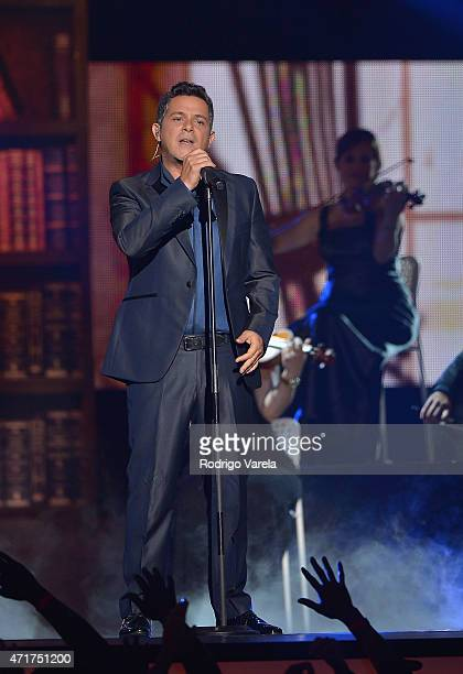 Alejandro Sanz performs onstage at the 2015 Billboard Latin Music Awards presented bu State Farm on Telemundo at Bank United Center on April 30 2015...