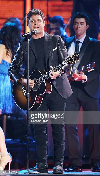 Alejandro Sanz performs onstage during the 14th Annual Latin GRAMMY Awards held at Mandalay Bay Resort and Casino on November 21 2013 in Las Vegas...
