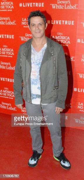 Alejandro Sanz poses at his concert at Olympic Stadium on June 19 2013 in Seville Spain