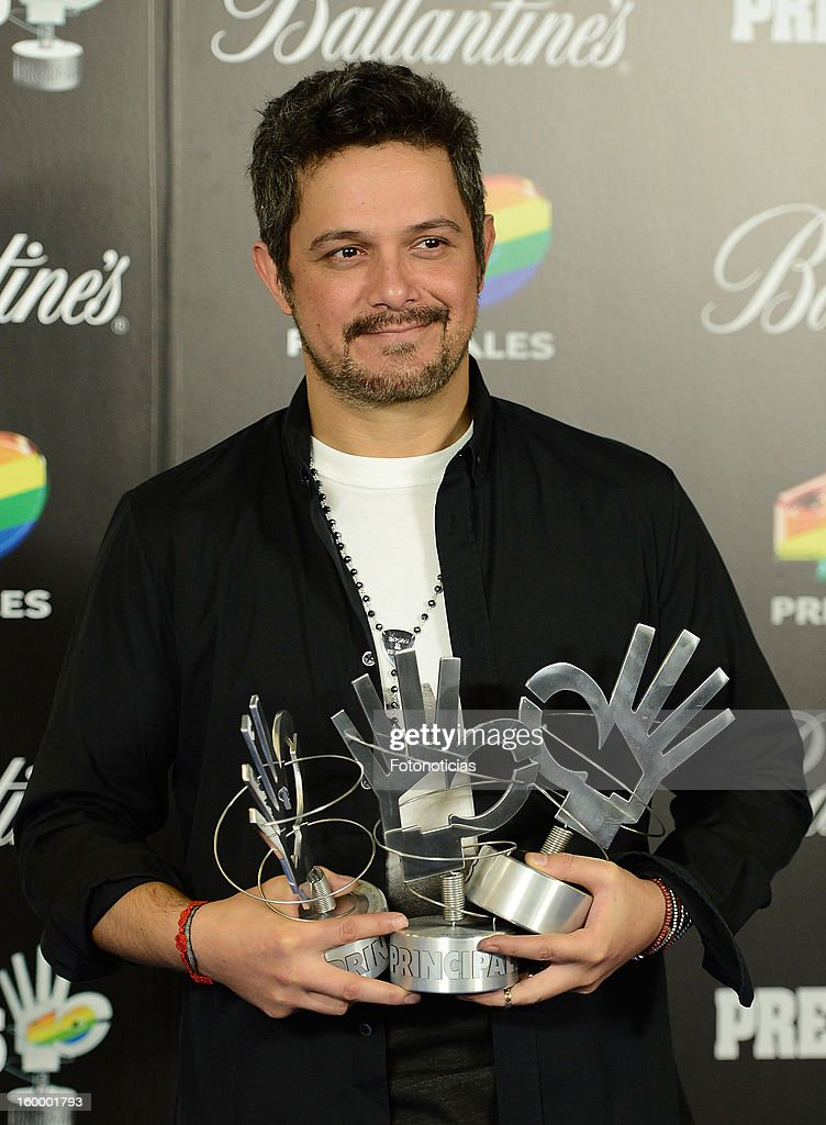 Alejandro Sanz poses in the press room during '40 Principales Awards' 2012 at the Palacio de Deportes on January 24, 2013 in Madrid, Spain.