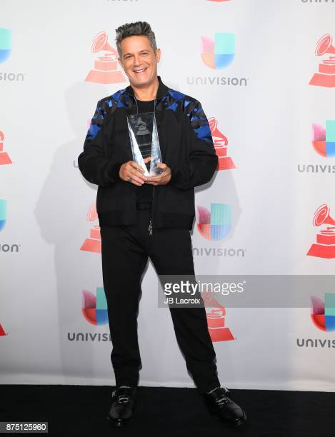 Alejandro Sanz poses in the press room during The 18th Annual Latin Grammy Awards at MGM Grand Garden Arena on November 16 2017 in Las Vegas Nevada