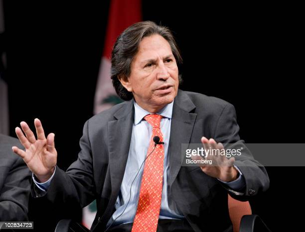 Alejandro Toledo former president of Peru speaks at the 2010 Biennial of the Americas Former Heads of State Summit in Denver Colorado US on Monday...