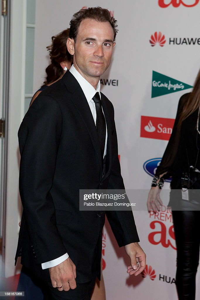 Alejandro Valverde attends 'As Del Deporte' Awards 2012 at The Westin Palace Hotel on December 10, 2012 in Madrid, Spain.