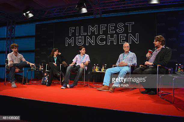 Alejo Moguillansky Mariana Rondon Jose Luis Valle Luis Minarro and Florian Borchmeyer attend the 'Nuevo Cine Hispano' Panel as part of Filmfest...