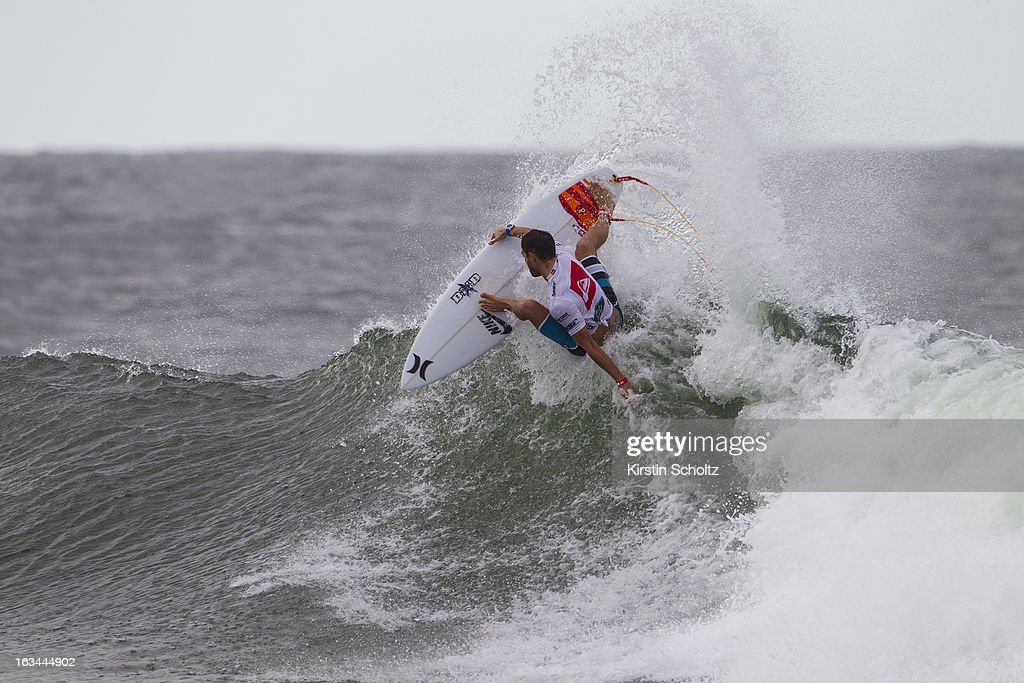Alejo Muniz of Brasil surfs during round three during the Quiksilver Pro on March 10, 2013 in Gold Coast, Australia.