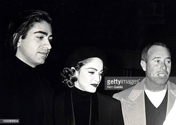 Alek Keshishian Madonna and David Geffen during Christopher Ciccone Art and Design Exhibition November 7 1991 at Wessel O'Conner Gallery in New York...