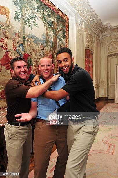 Alek Skarlatos Spencer Stone and Anthony Sadler the three Americans who avoided a massacre in the train Thalys Amsterdam Paris were received at a...