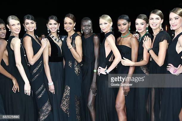 Alek Wek and models during the 'De Grisogono' Party at the annual 69th Cannes Film Festival at Hotel du CapEdenRoc on May 17 2016 in Cap d'Antibes...