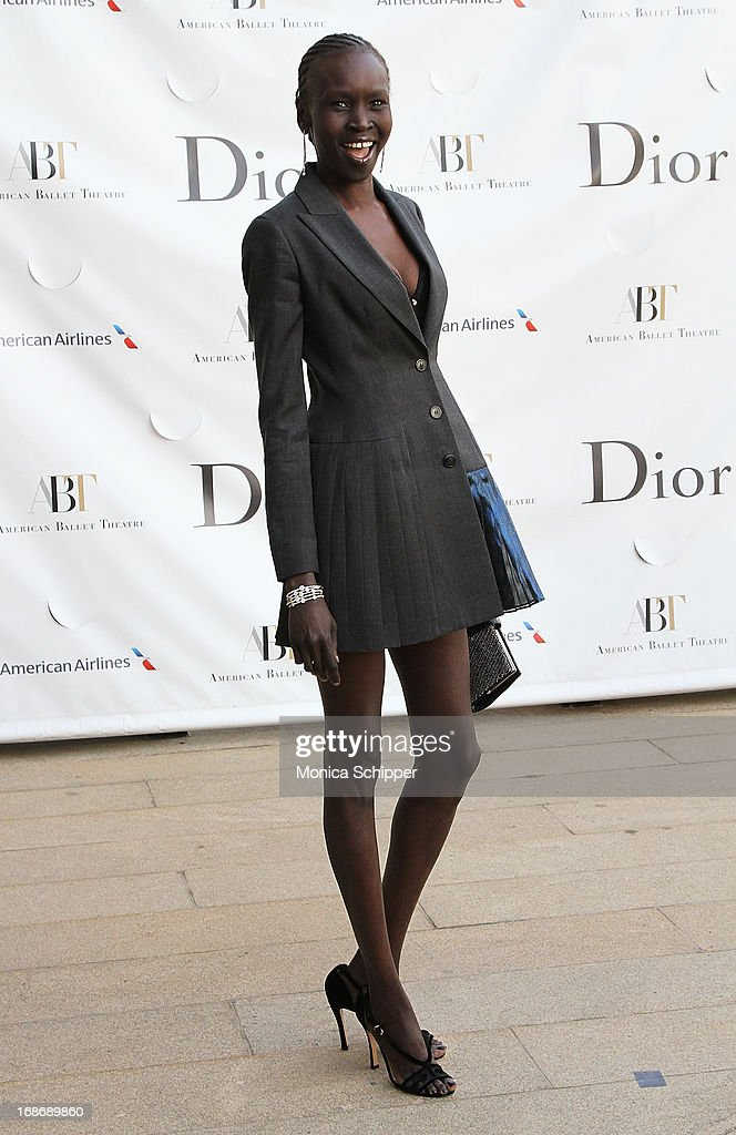 Alek Wek attends the 2013 American Ballet Theatre Opening Night Spring Gala at Lincoln Center on May 13, 2013 in New York City.