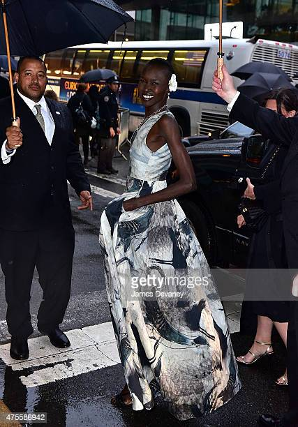 Alek Wek attends the 2015 CFDA Fashion Awards at Alice Tully Hall at Lincoln Center on June 1 2015 in New York City