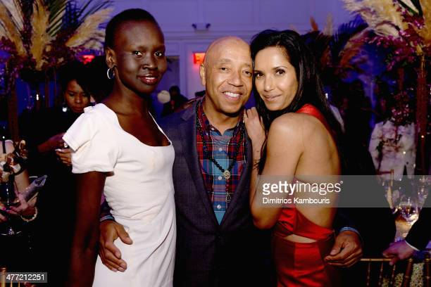 Alek Wek Russell Simmons and Padma Lakshmi attend the Endometriosis Foundation of America's 6th annual Blossom Ball hosted by Padma Lakshmi and Tamer...