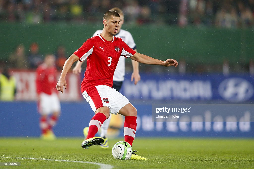 Aleksandar Dragovic of Austria controls the ball during the International friendly match between Austria and USA at the Ernst-Happel Stadium on November 19, 2013 in Vienna, Austria.