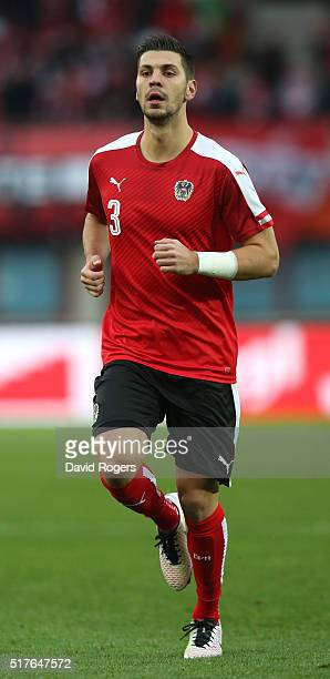 Aleksandar Dragovic of Austria looks on during the international friendly match between Austria and Albania at the ErnstHappelStadion on March 26...