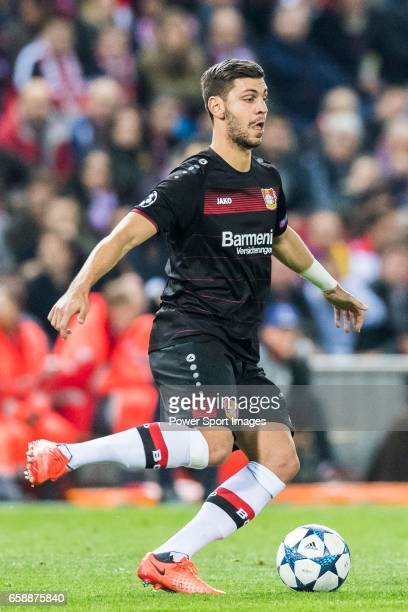 Aleksandar Dragovic of Bayer 04 Leverkusen in action during their 201617 UEFA Champions League Round of 16 second leg match between Atletico de...