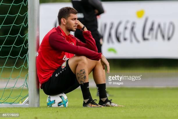 Aleksandar Dragovic of Bayer 04 Leverkusen looks on during the Training Camp of Bayer 04 Leverkusen on July 25 2017 in Zell am Ziller Austria